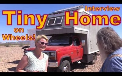 Adventurous Woman Living in a Tiny Home on Wheels