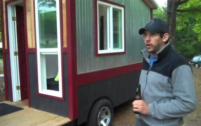60 Square Foot Tiny House on Wheels With a Shower, Toilet and Kitchen!